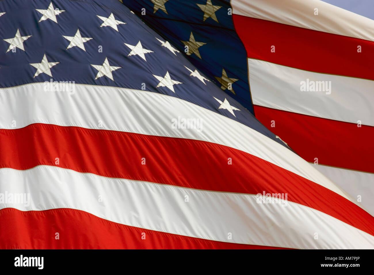 American flag close upStock Photo