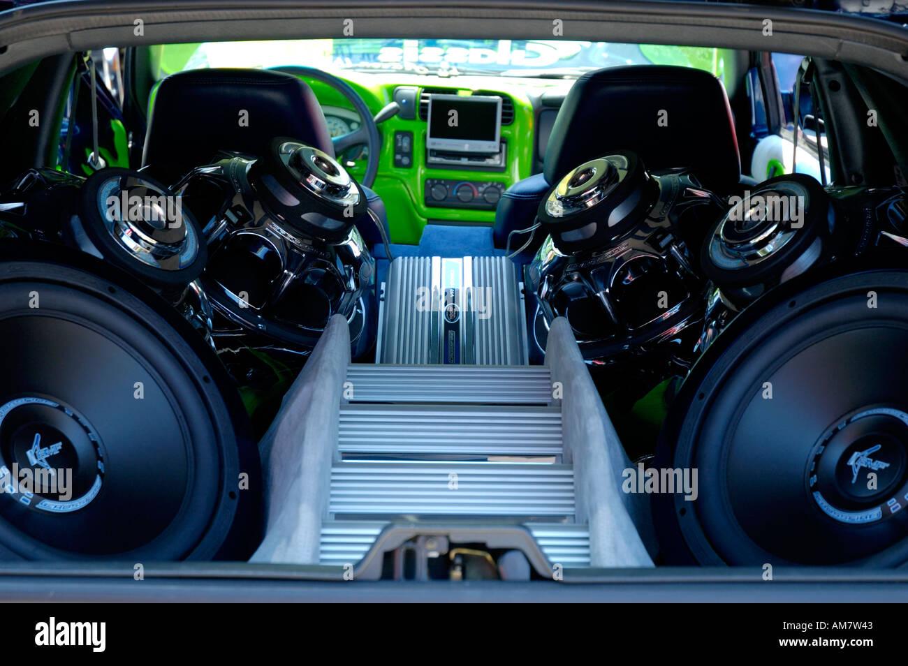 Truck Sound System >> Extreme Sound System Inside Pickup Truck Stock Photo 4955458 Alamy