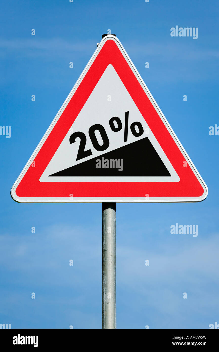 20 % profit tax dividend gain increase gradient - symbolic picture - series Stock Photo