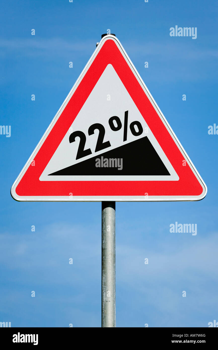 22 % profit tax dividend gain increase gradient - symbolic picture - series - Stock Image