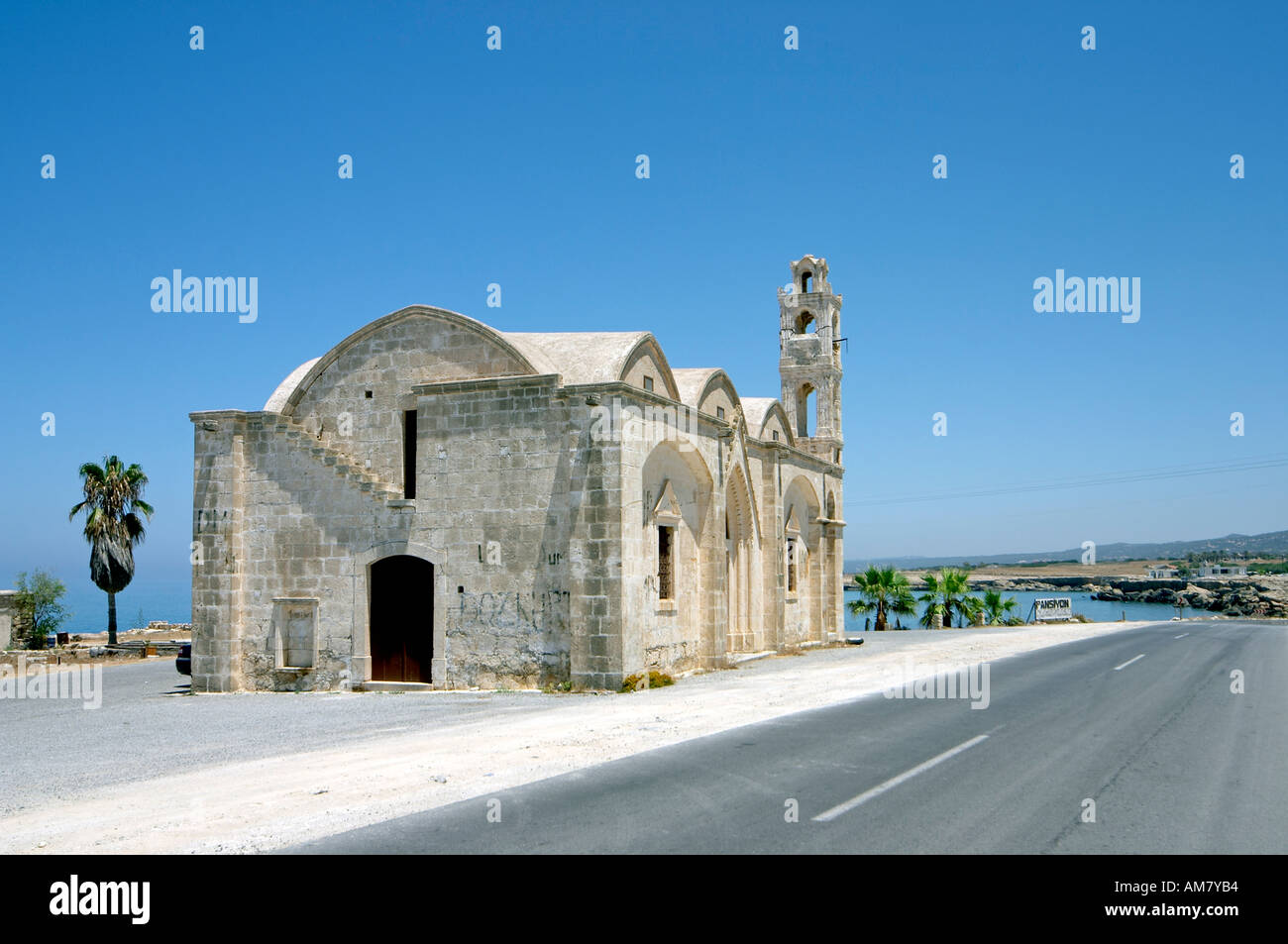 Agios Thyrsos Greek Orthodox Church Karpas Peninsula Northern Cyprus Stock Photo