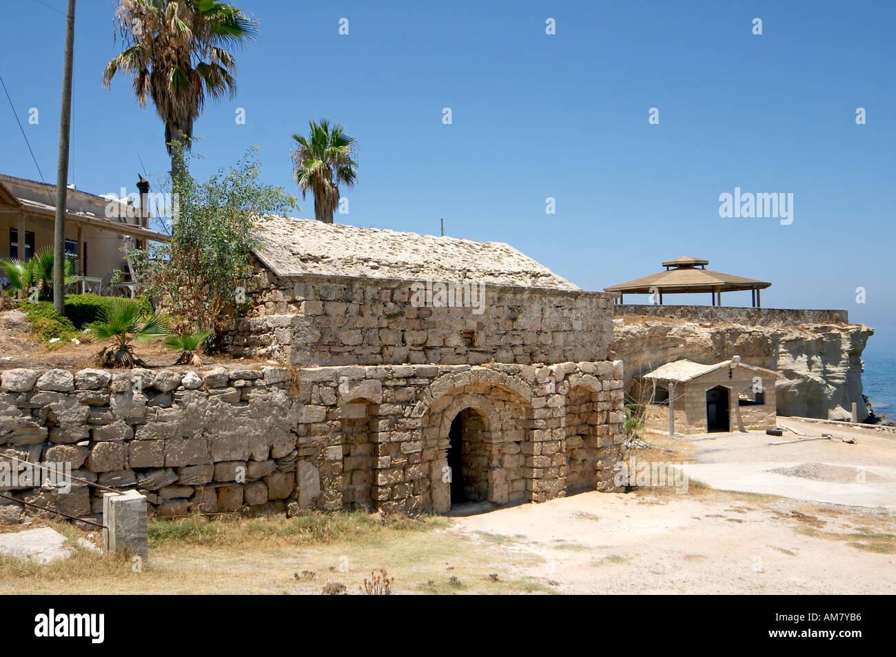 Agios Thyrsos Agiasmos well Karpas Peninsula Northern Cyprus Stock Photo