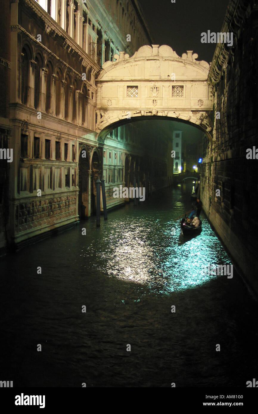 Seufzerbrücke, very known bridge, Venice, Italy - Stock Image