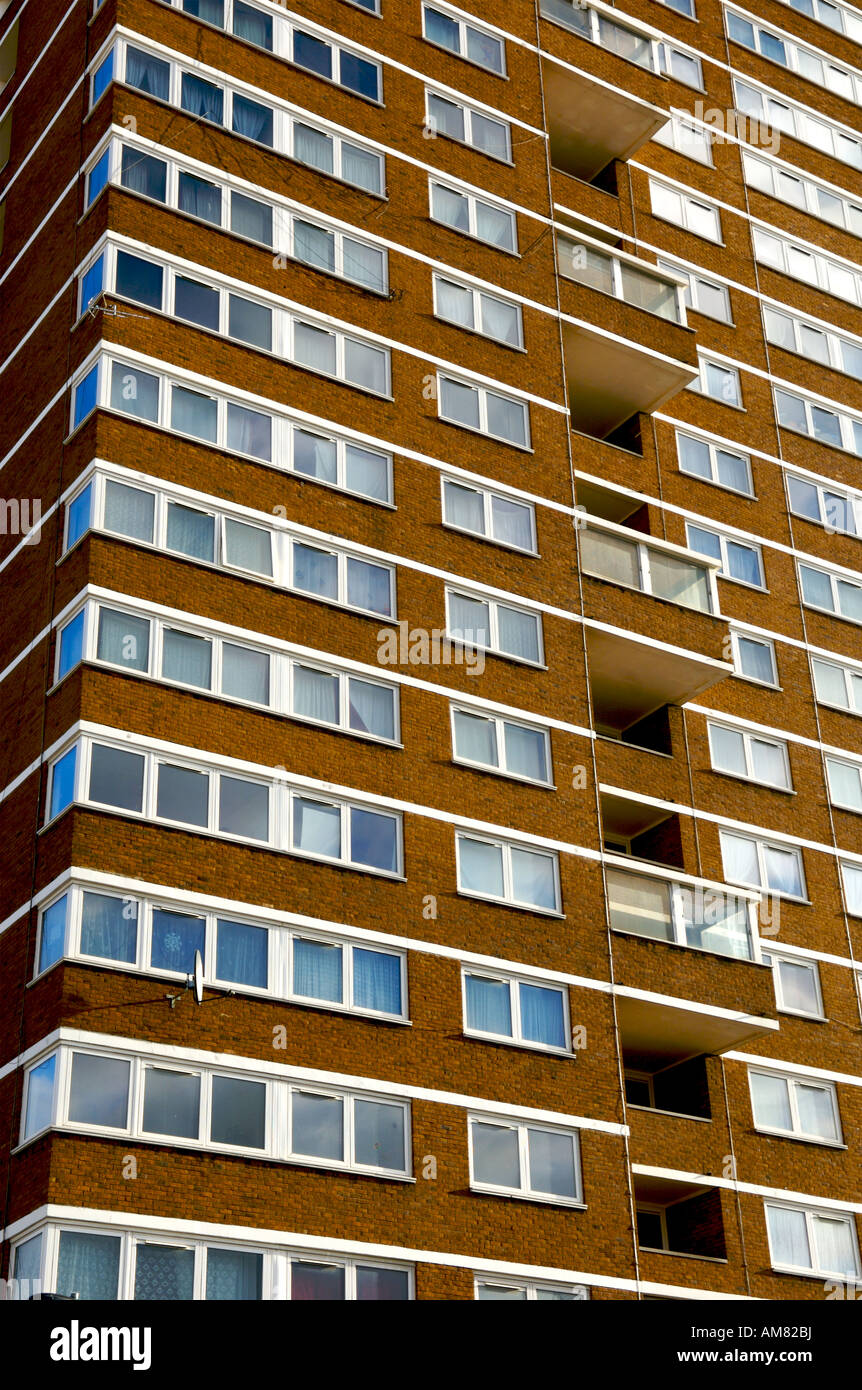 A tower block of flats/appartments in the East End of London. - Stock Image