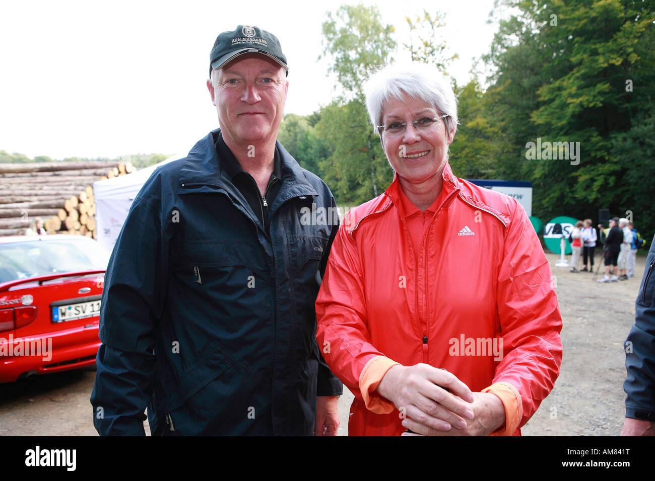 District Administrator Rolf Menzel, double olympic champion Heide Ecker-Rosendahl - Stock Image
