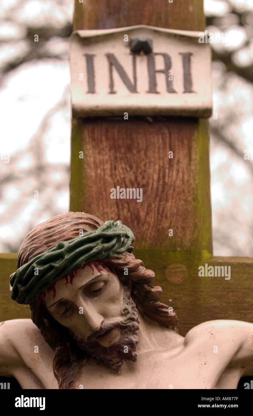 Jesus Christ on the cross - Stock Image