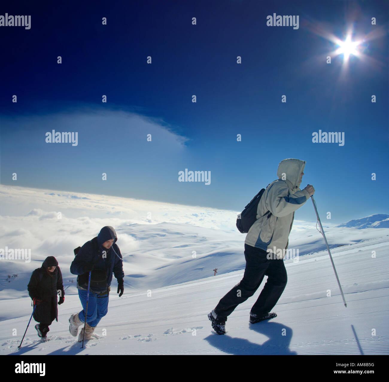 Alpine expedition climbing Mt Sar Planina - Stock Image