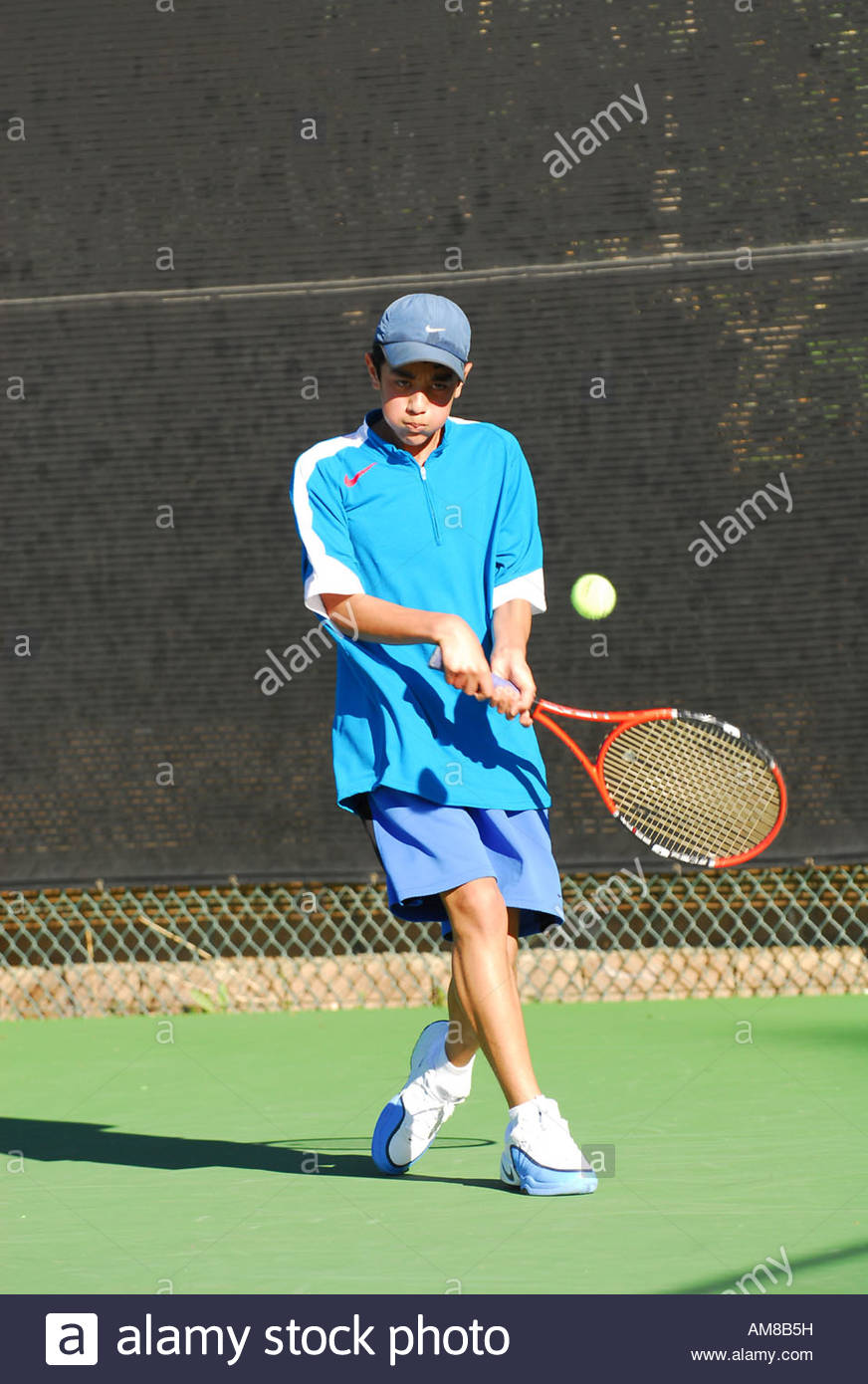 male teenage tennis player - Stock Image