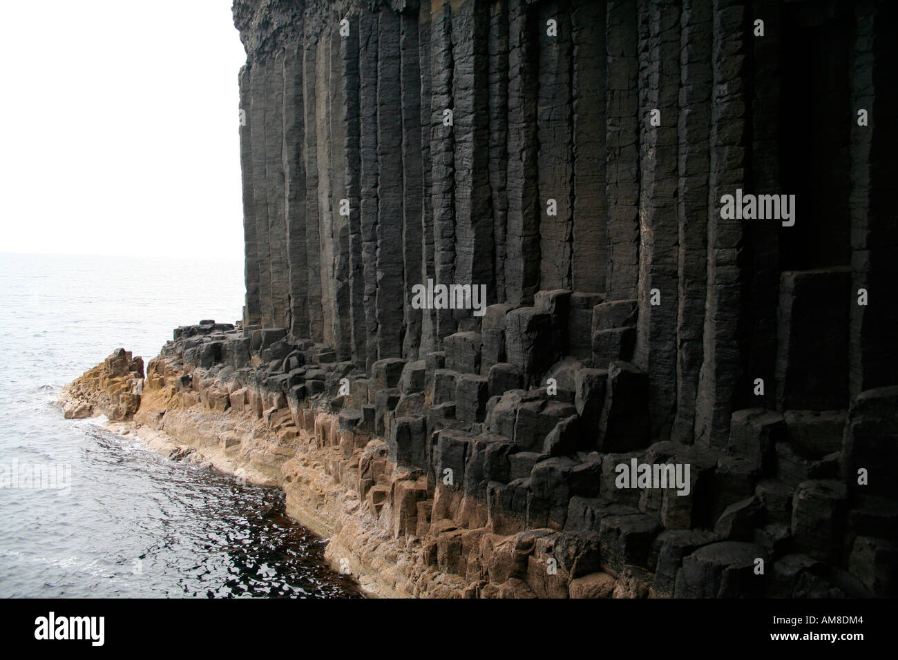 Fingal's Cave, Staffa, Treshnish Isles near Mull, West Coast of Scotland UK - Stock Image