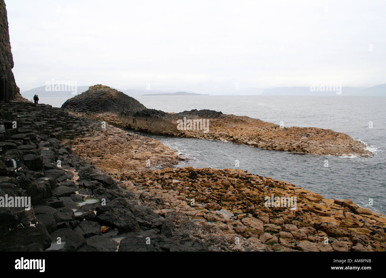 Rock formations, Fingal's Cave, Staffa, Treshnish Isles near Mull, West Coast of Scotland UK - Stock Image