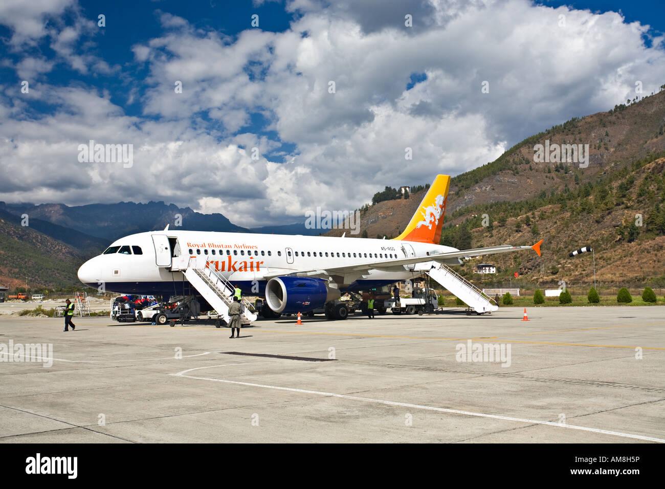 Druk Air Paro International Airport Paro Bhutan Stock Photo