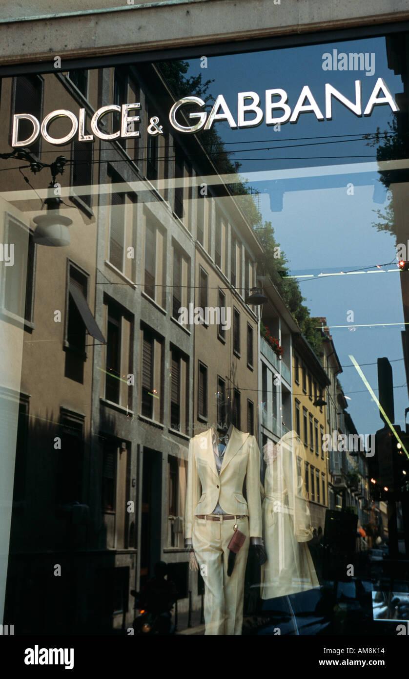 Italy Milan Quadrilatero della Moda Via della Spiga - Stock Image