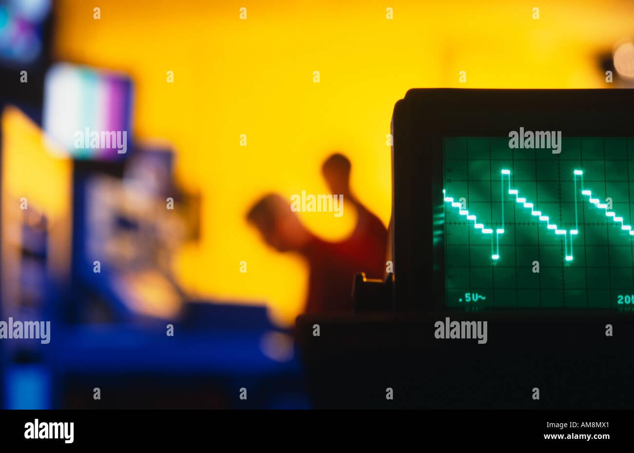 Electronics testing laboratory - Stock Image