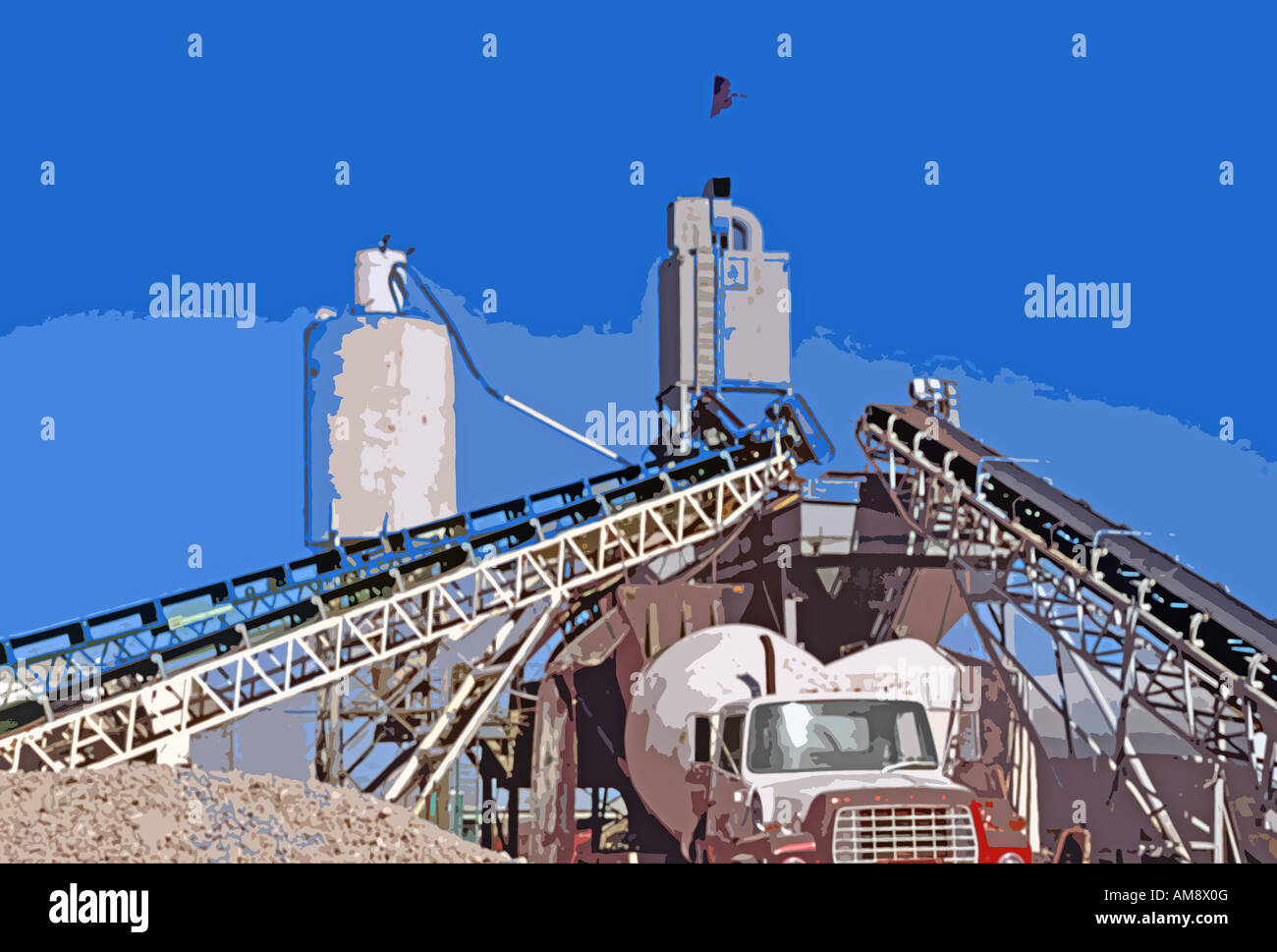 Biggest Concrete Plant In The Usa : A cement manufacturing plant in salt lake city utah usa