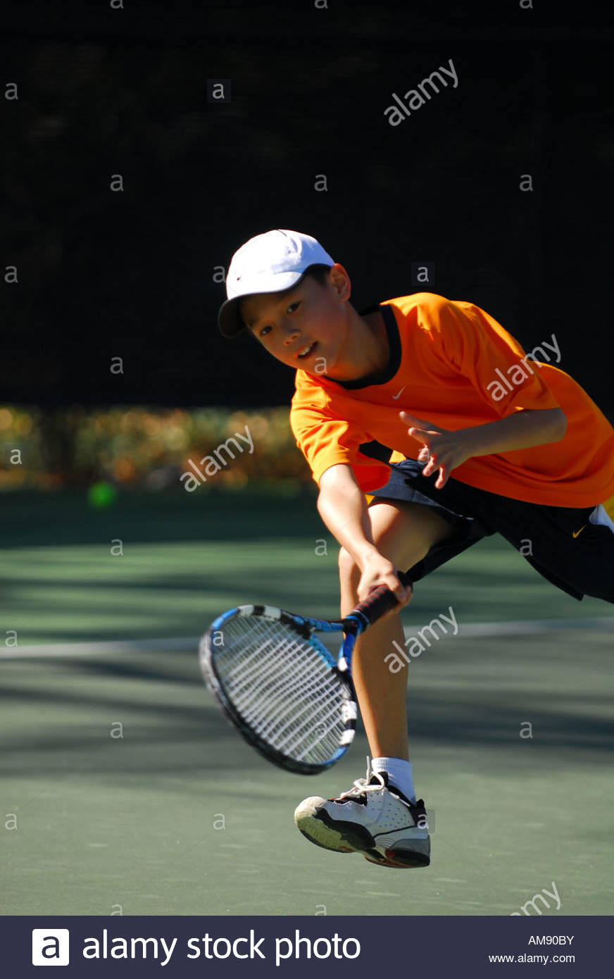 young tennis male player - Stock Image