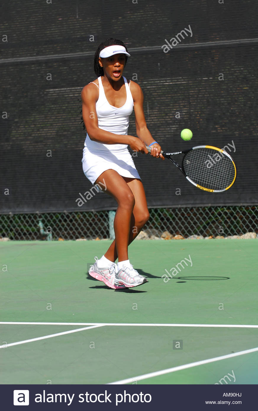 Young female tennis player - Stock Image