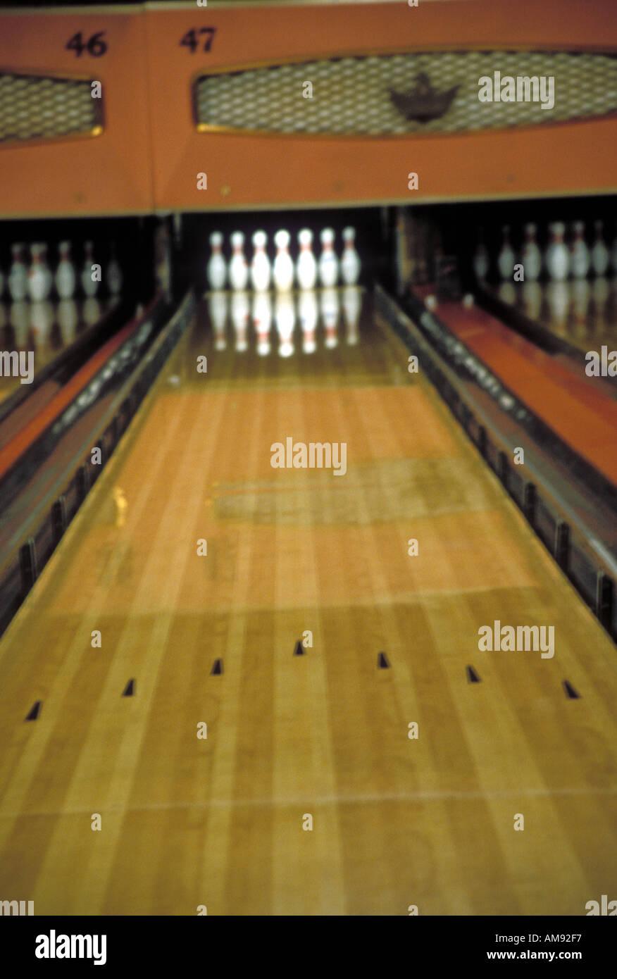 Bowling Lane Stock Photo: 1348342 - Alamy