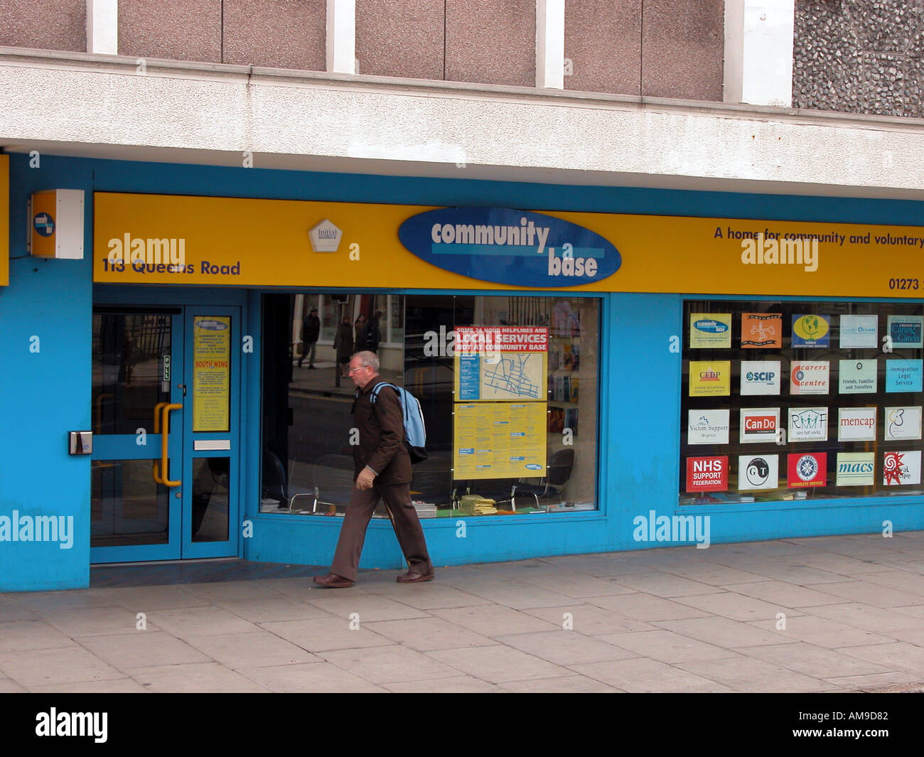Big issue and social issues office and shop - Stock Image