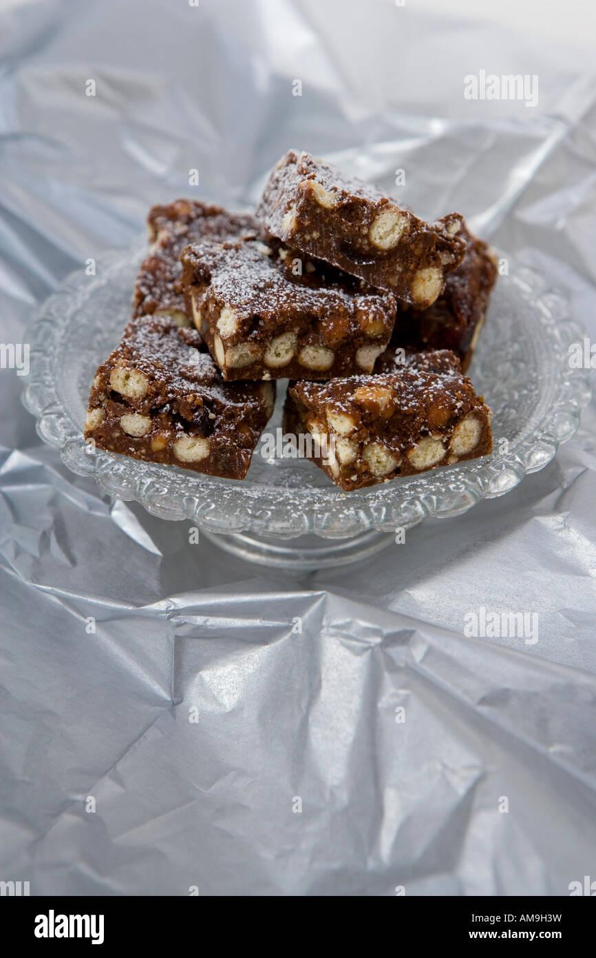 Chocolate brownies - Stock Image