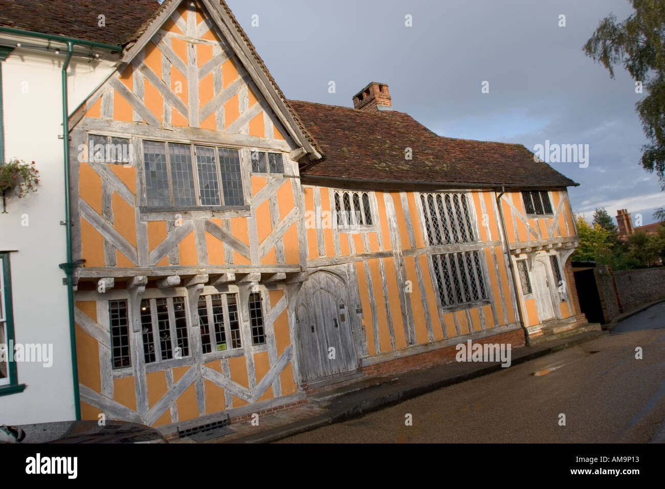 Little Hall Lavenham Suffolk first built in the 1390s - Stock Image