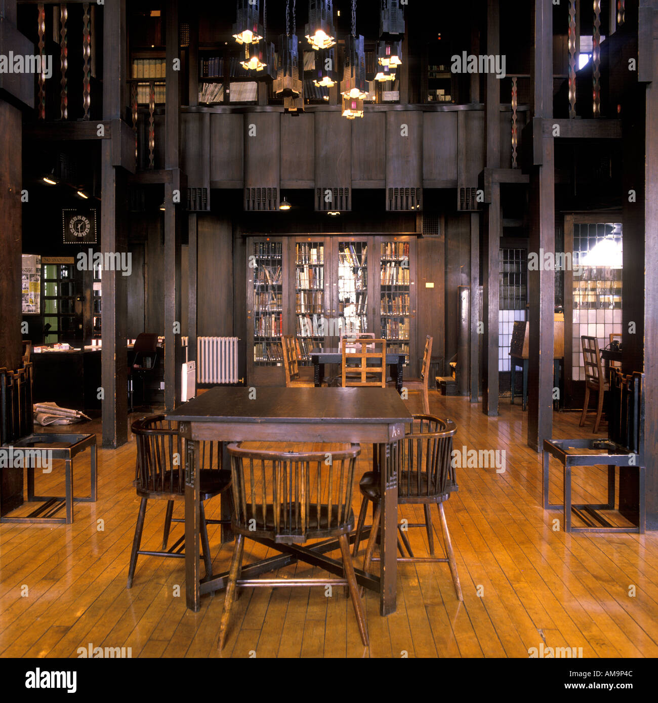 Library Glasgow School Of Art Architect Charles Rennie Mackintosh Stock Photo Alamy