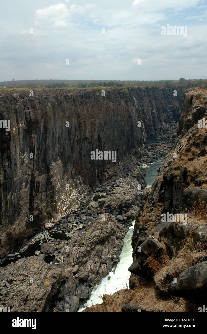 Victoria Falls Southern Africa During Drought Stock Photo