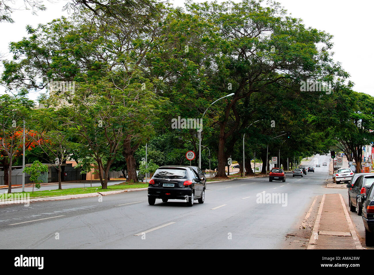W3 North Avenue Brasilia Brazil South America - Stock Image