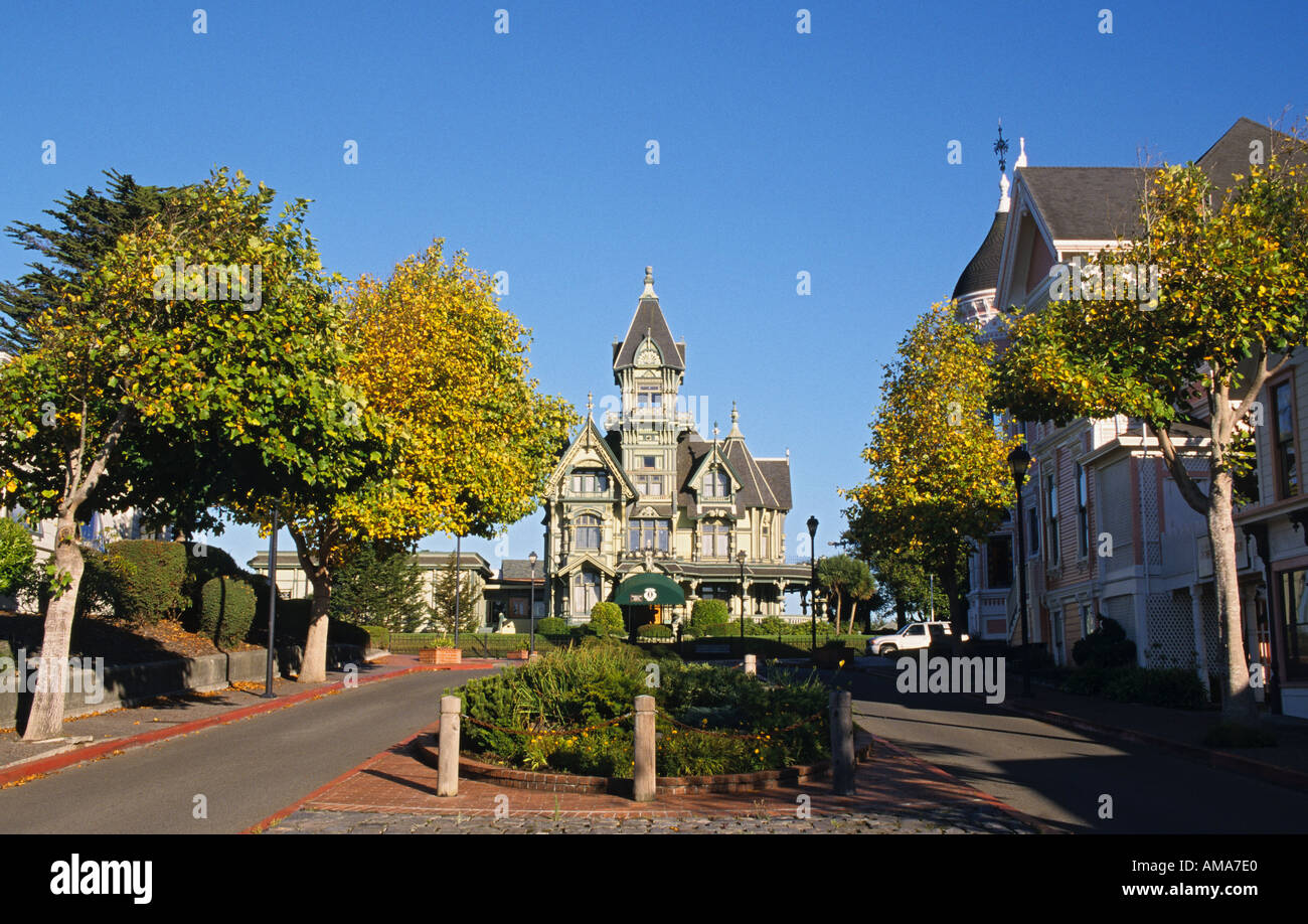 California Redwood Empire Eureka Carson Mansion - Stock Image