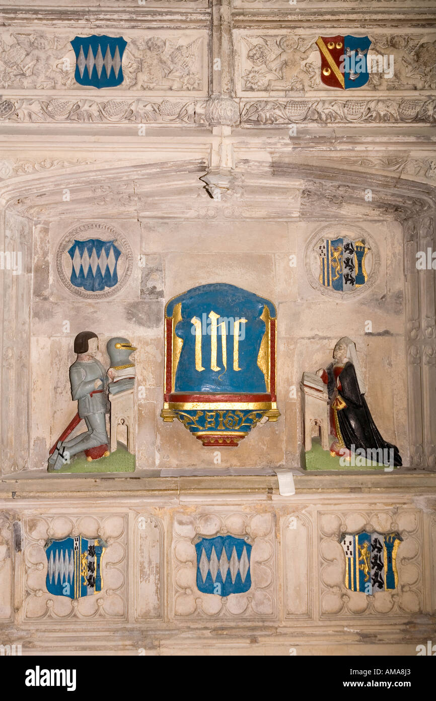 West Sussex South Downs Petworth Church of St Mary the Virgin C16th tomb is Sir John Dawtrey - Stock Image