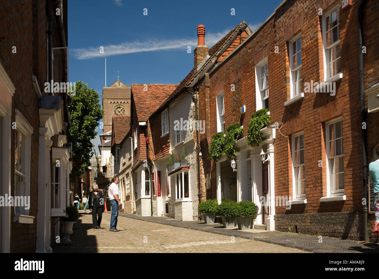 West Sussex South Downs NP Petworth Lombard Street - Stock Image