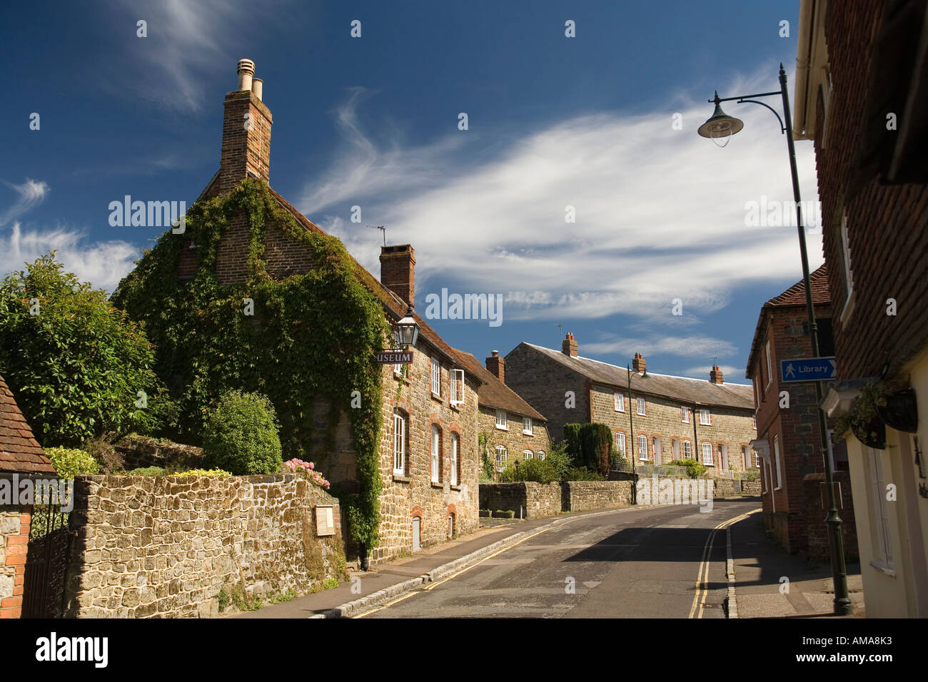 West Sussex South Downs Petworth High Street Cottage Museum - Stock Image