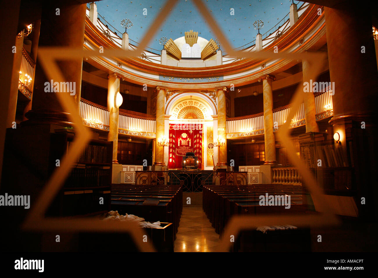 Aug 2008 - The Stadttempel Synagogue Vienna Austria - Stock Image