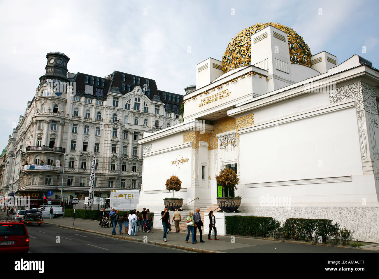 Aug 2008 - The Secession Building Art Museum Vienna Austria - Stock Image