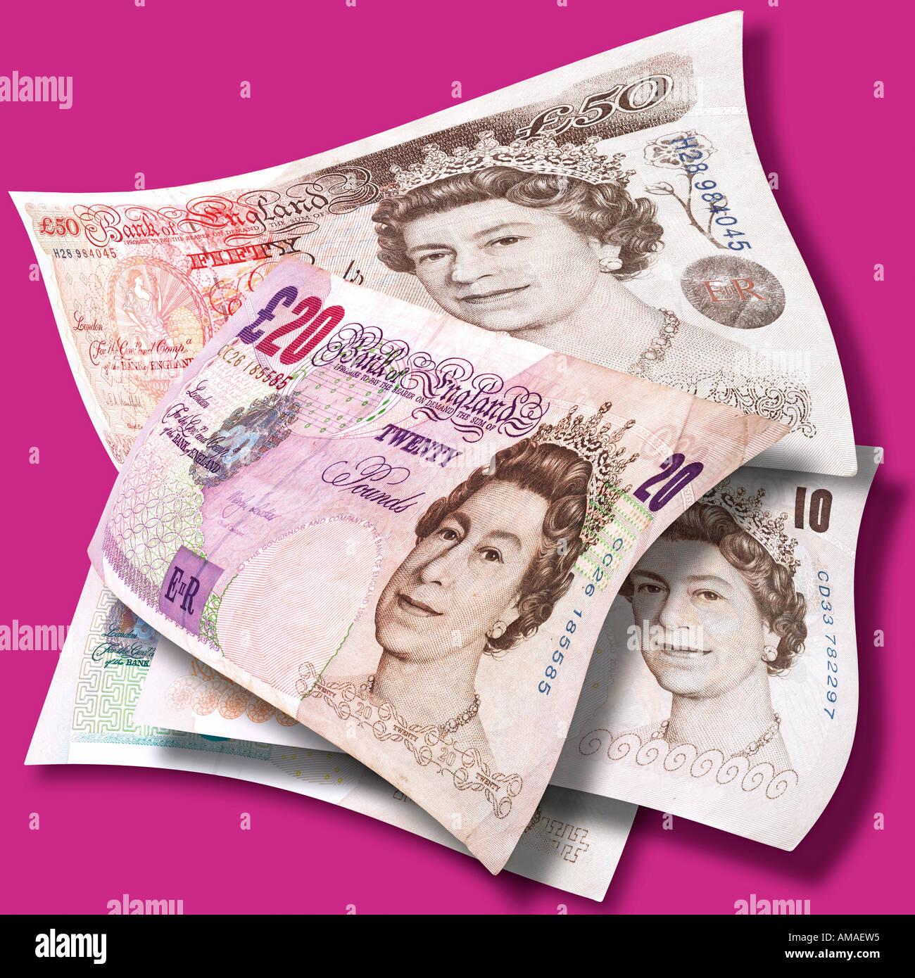 Englische Pfund / English pound note - Stock Image