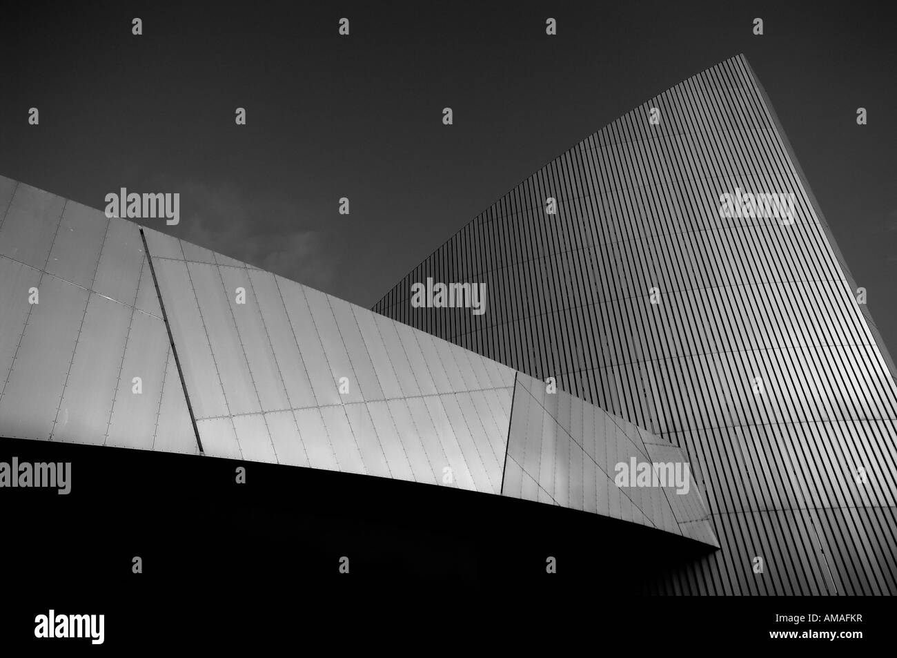 B&W war museum north salford quays manchester england uk europe - Stock Image