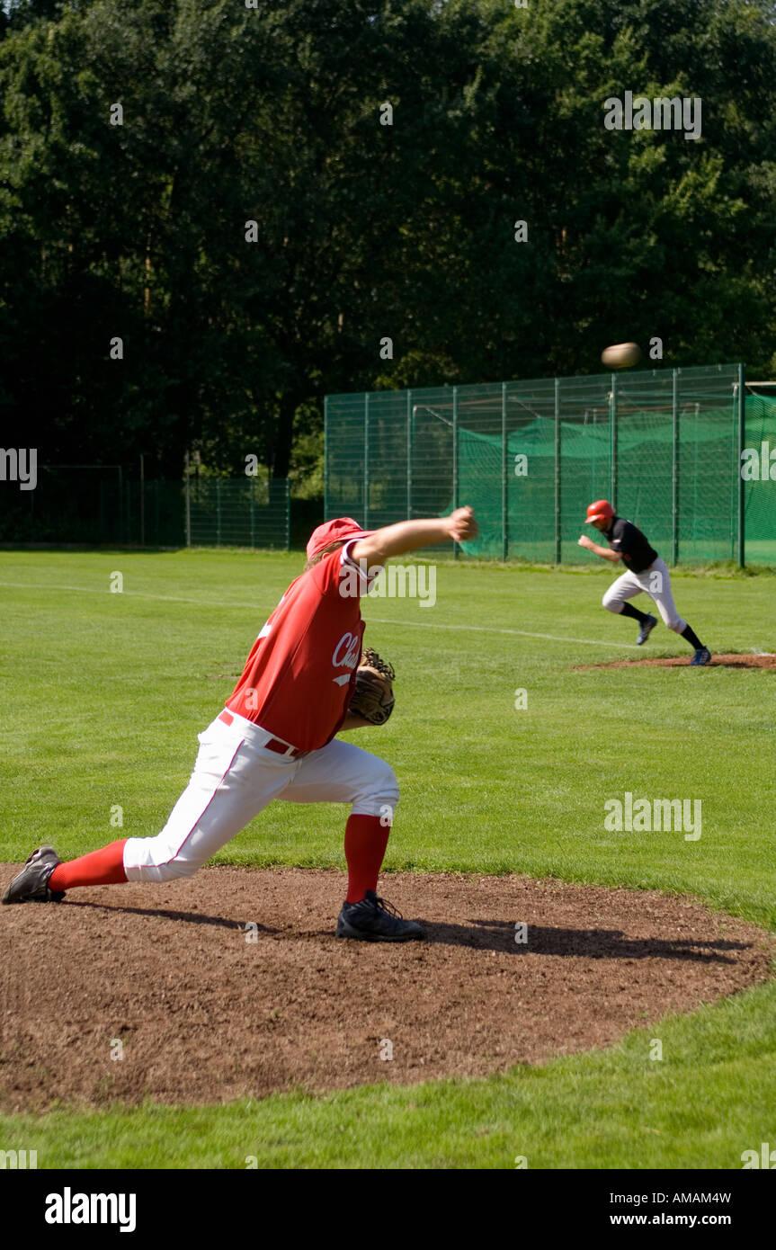 A baseball game - Stock Image