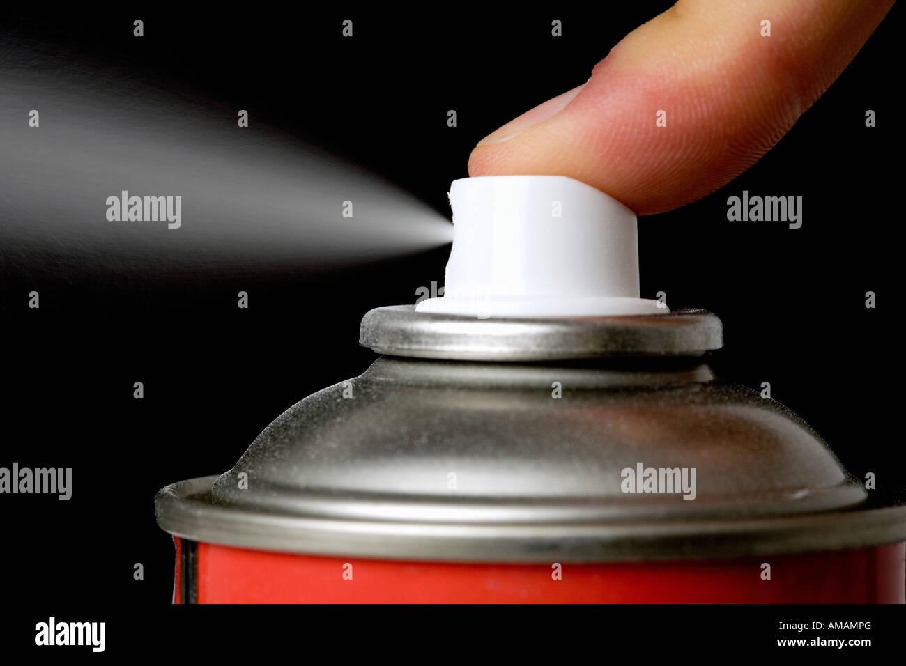 An aerosol can - Stock Image