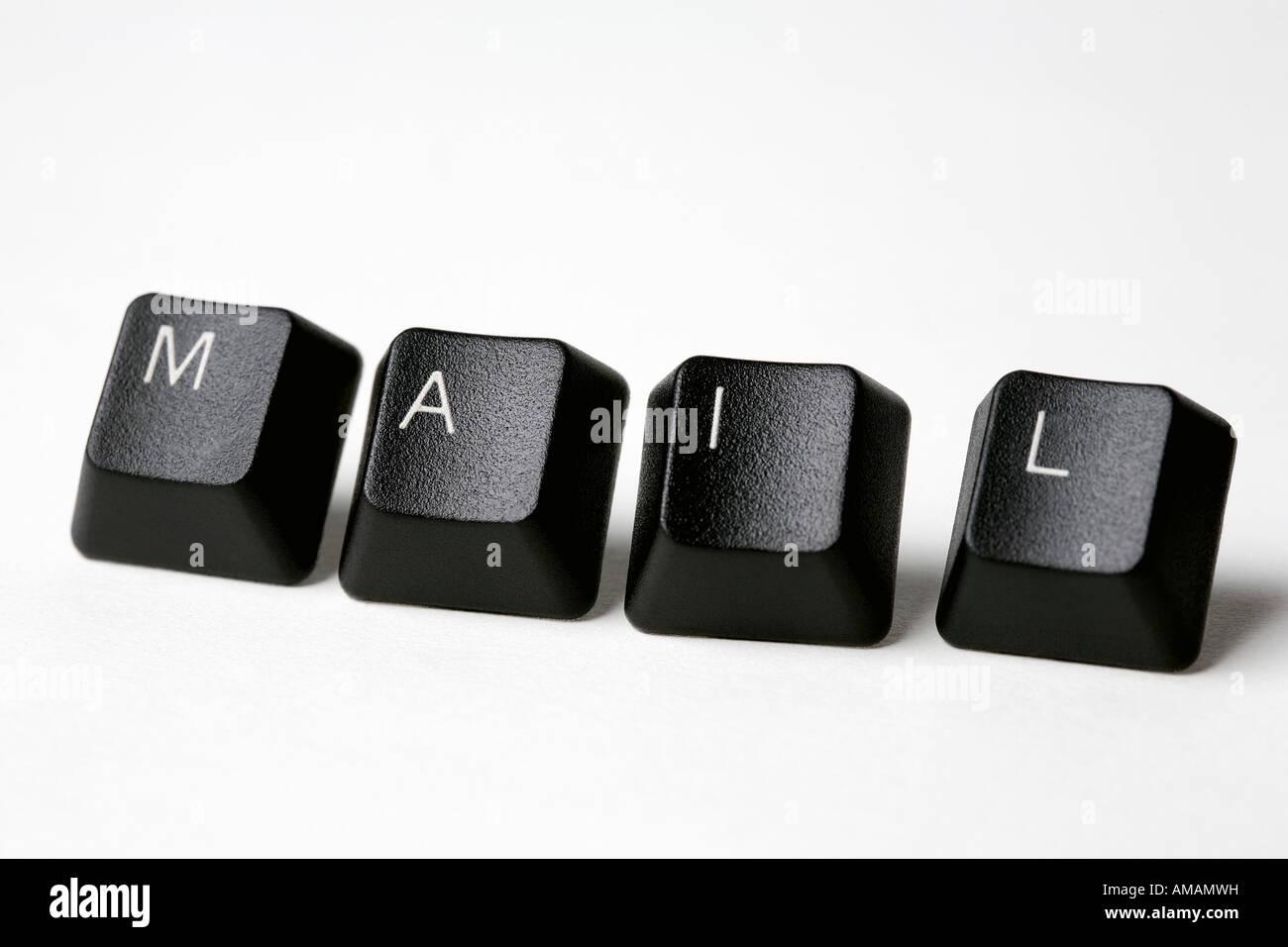 Computer keys spelling 'Mail' - Stock Image