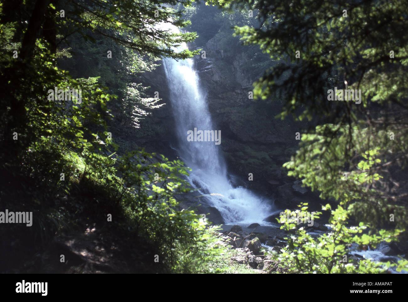 Giessbach Falls Near Brienz Bernese Oberland Switzerland Stock Photo