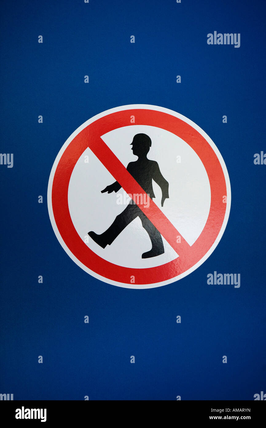 A 'No Entry' sign - Stock Image