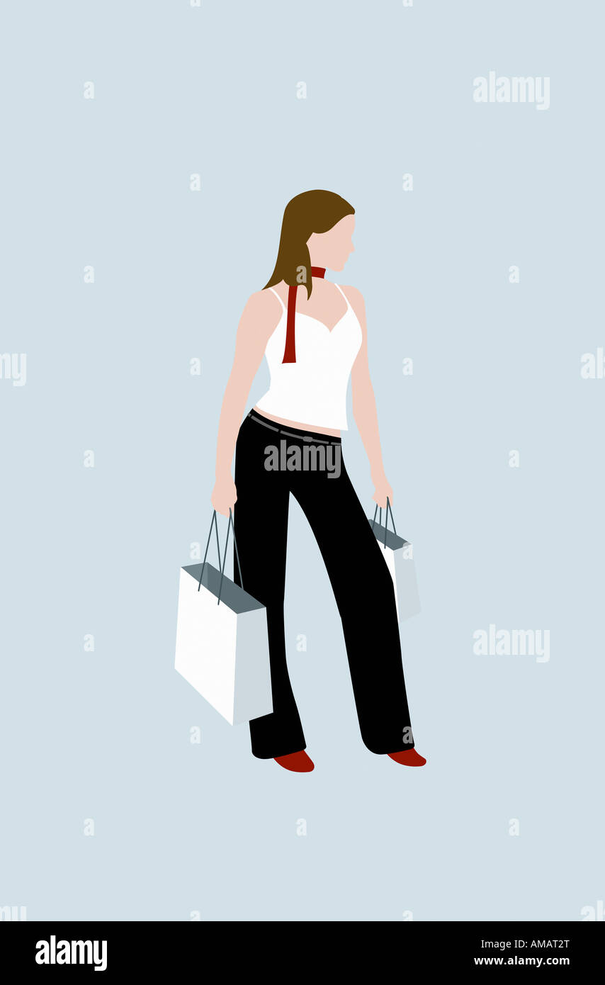 A woman shopping - Stock Image