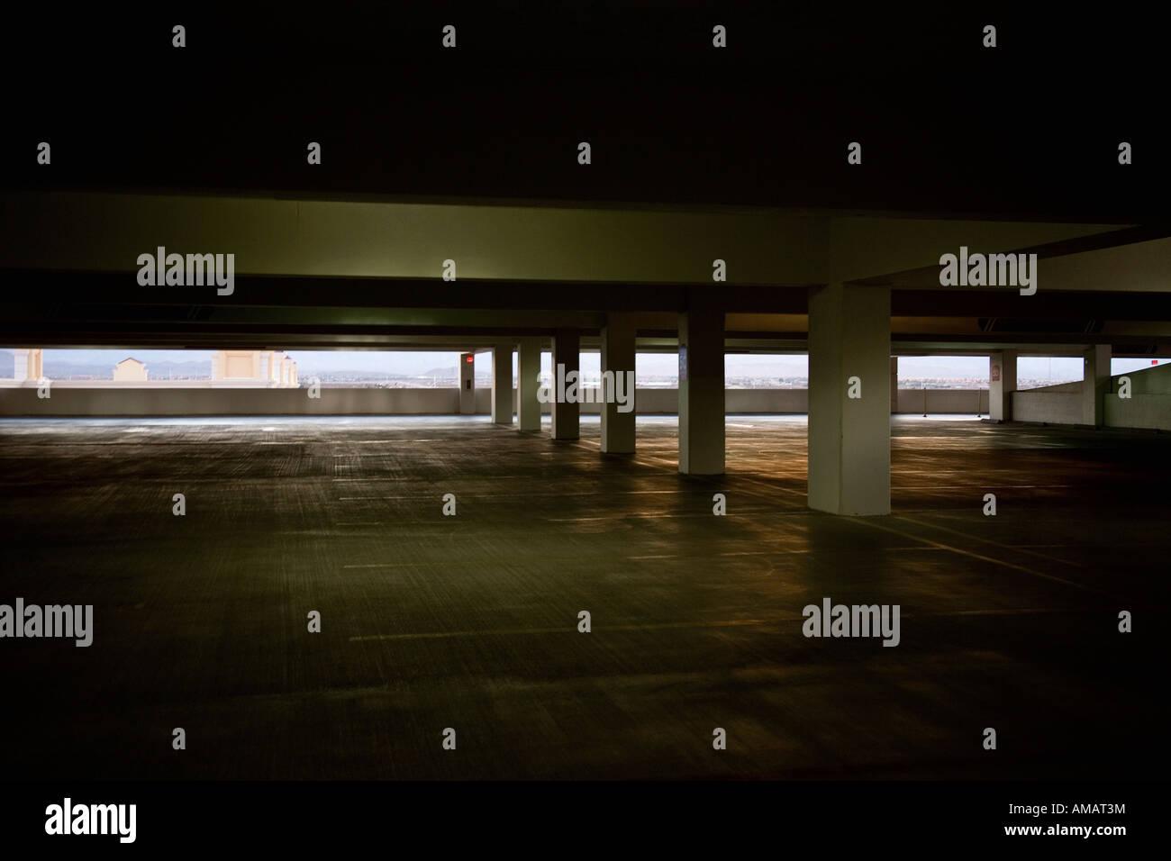 A multistory car park - Stock Image