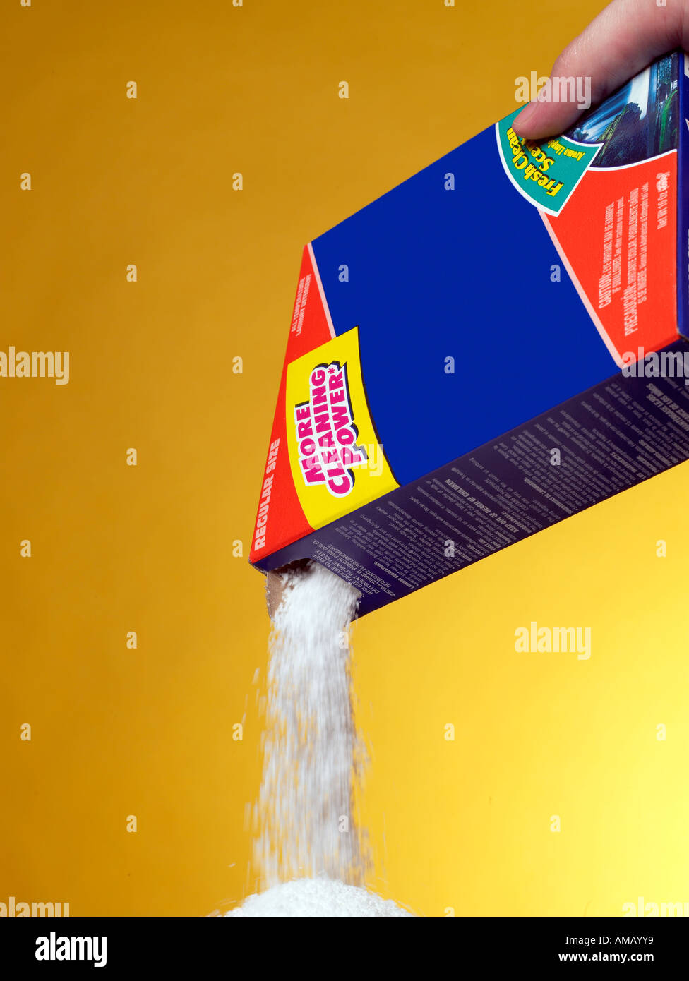 Pouring Detergent vertical - Stock Image