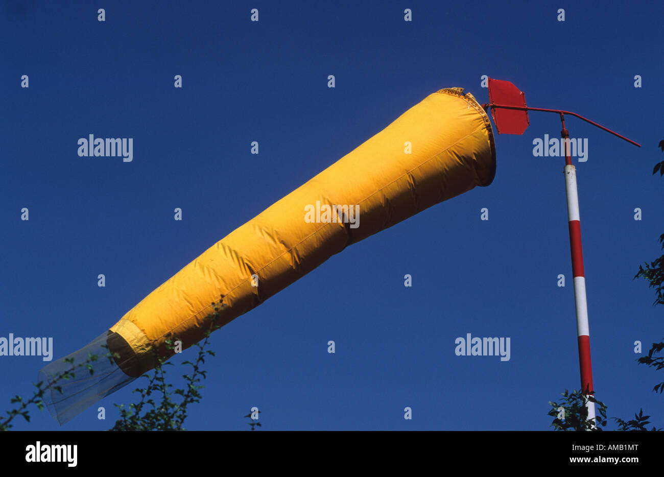 windsock at airfield uk - Stock Image