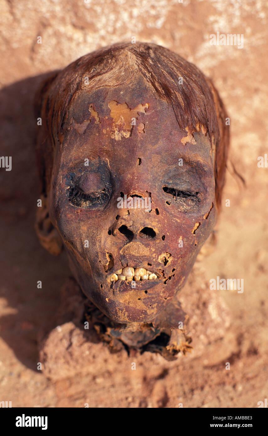 Archaeology and mummies at Dakhla Oasis, Egypt - Stock Image