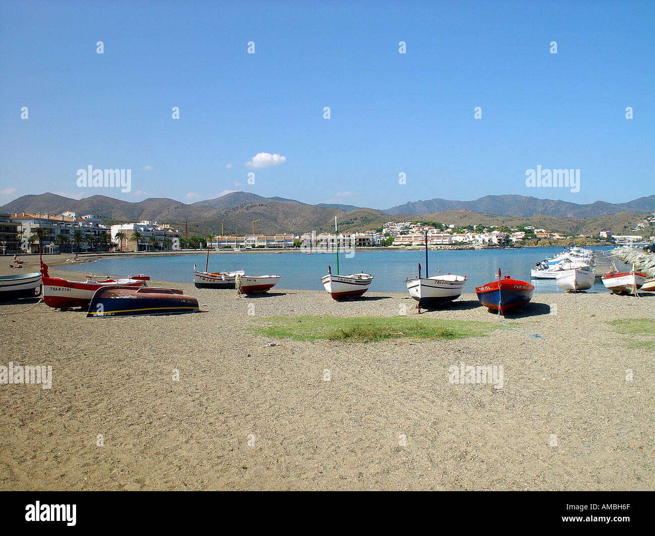 Catalonian beach Northern Spain - Stock Image