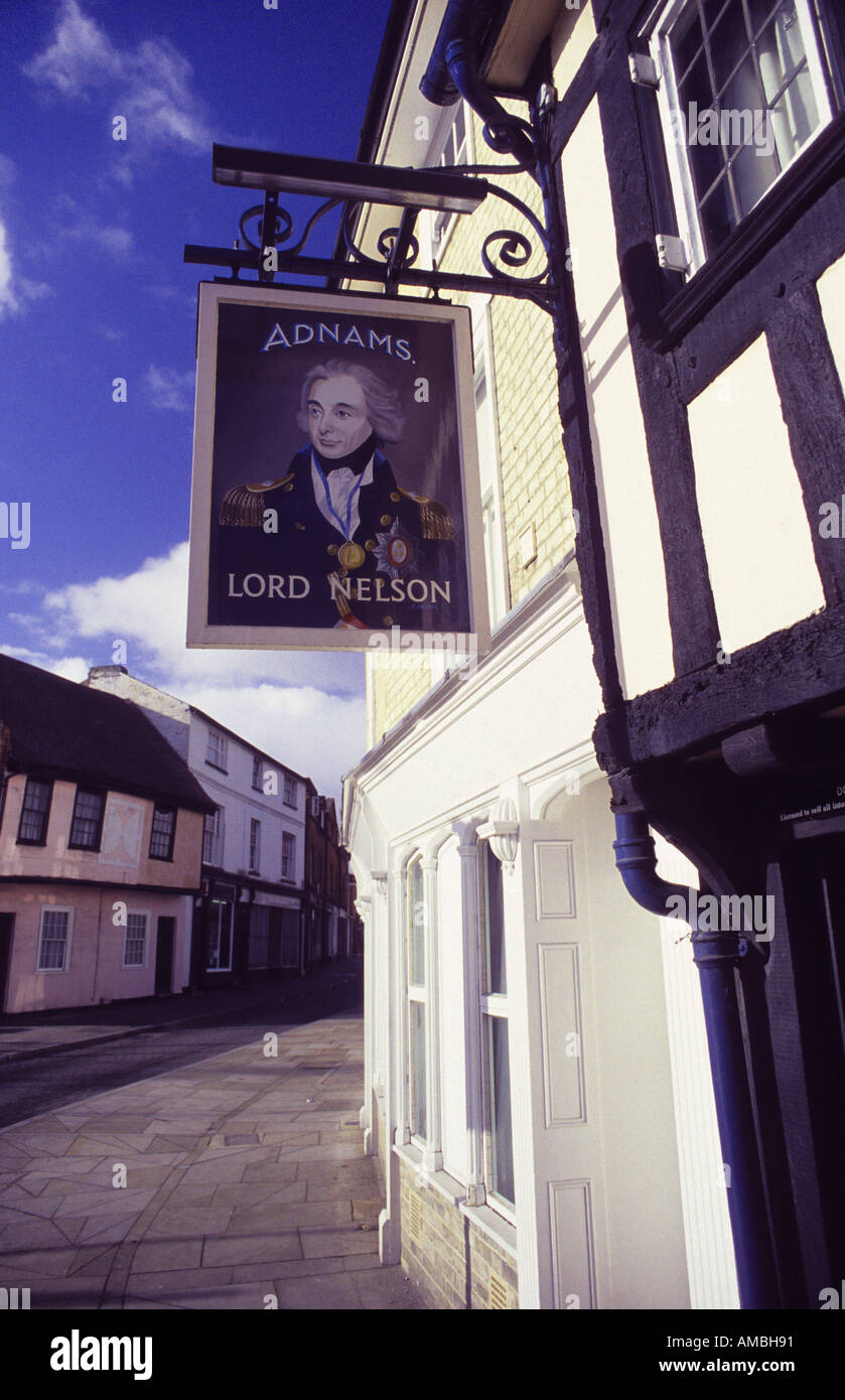 Lordc Nelson pub Ipswich - Stock Image