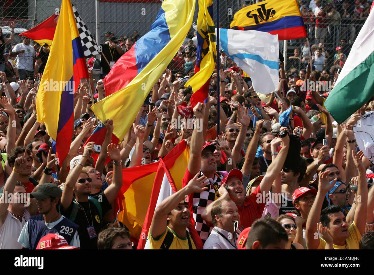 F1 fans invade the track Italian Grand Prix Monza Italy