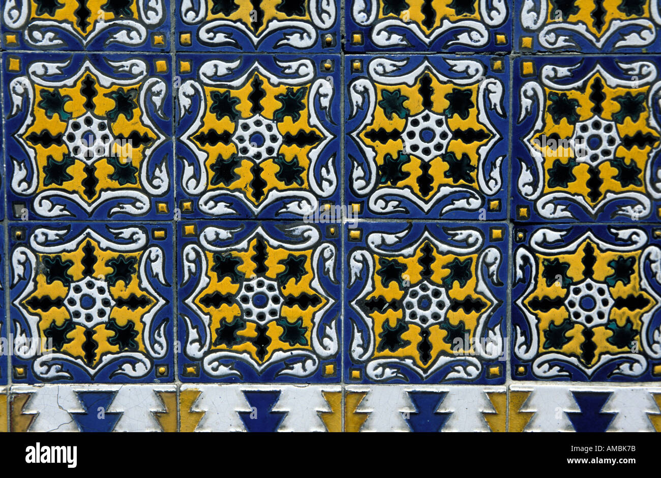 Buenos Aires decorative tiles - Stock Image