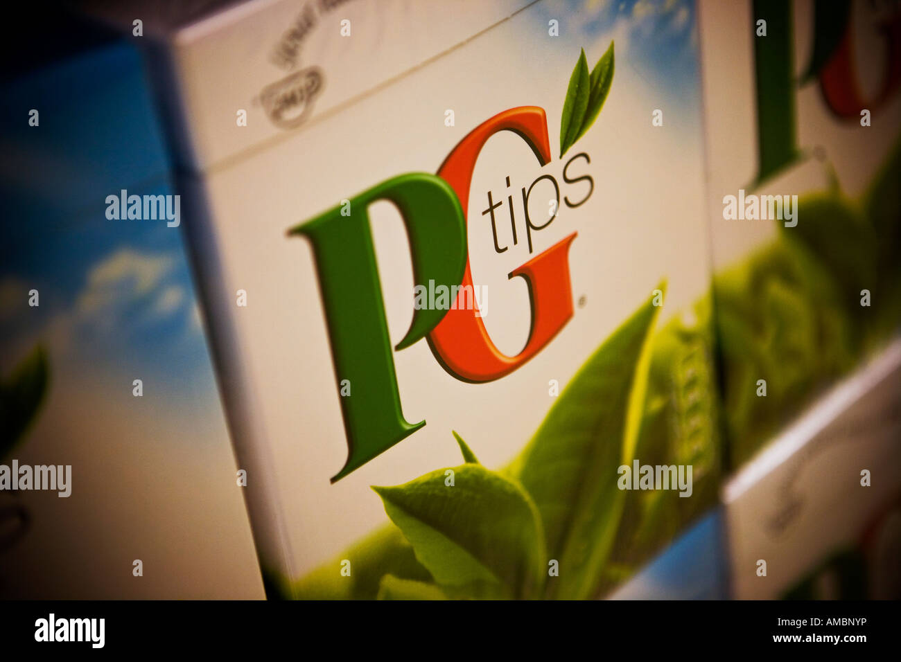 PG Tips tea bags PG Tips is a Unilever brand - Stock Image